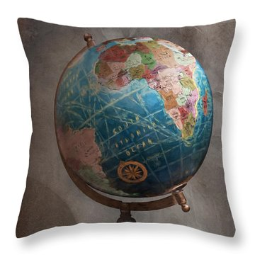The Globe Throw Pillow