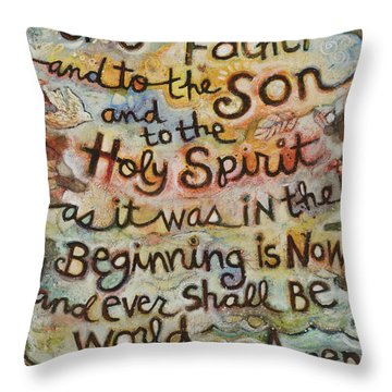 The Glory Be Throw Pillow