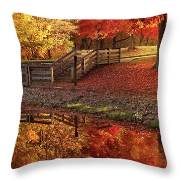 The Glory Of Autumn Throw Pillow
