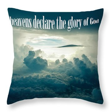Throw Pillow featuring the photograph The Glory Of God by Allen Beilschmidt
