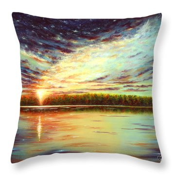 The Glory Of God Throw Pillow