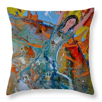 The Glory Of The Lord Throw Pillow