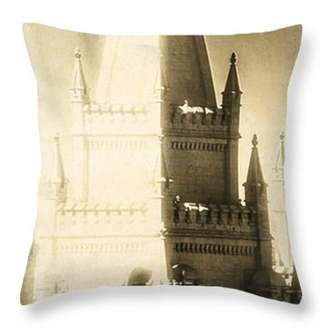The Glory Of The Lord Shone Round About Throw Pillow by Greg Collins