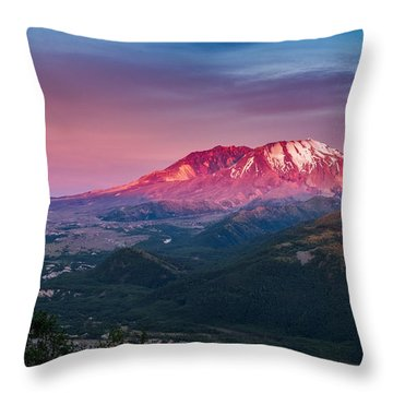 The Glow At Mt St Helens Throw Pillow