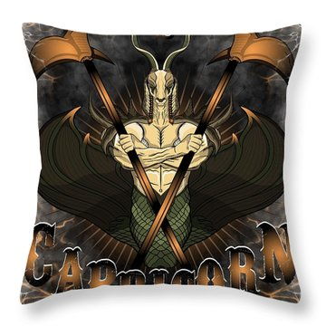 The Goat Capricorn Spirit Throw Pillow