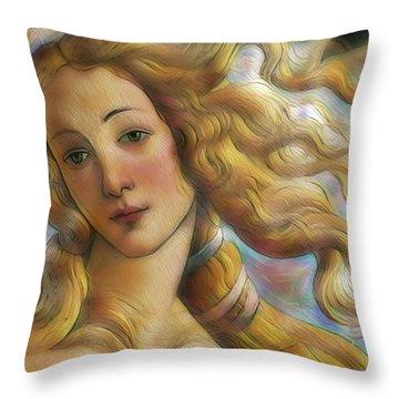 Uffizi Gallery Digital Art Throw Pillows