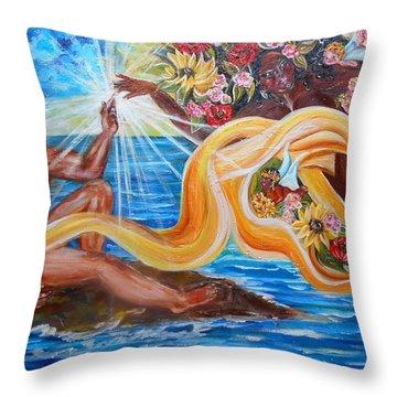 The Goddess Throw Pillow