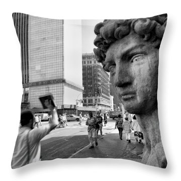The Gods Throw Pillow by Dave Beckerman