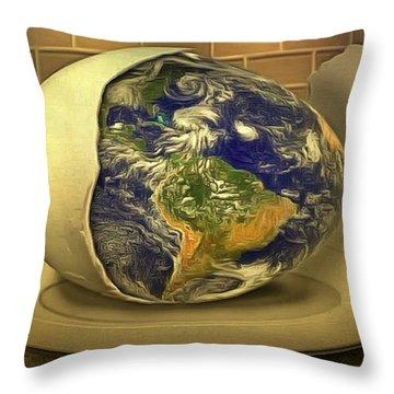 The God's Egg Throw Pillow
