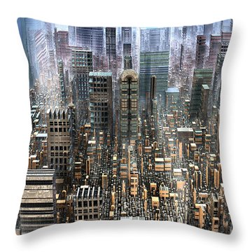 The Gold District Throw Pillow