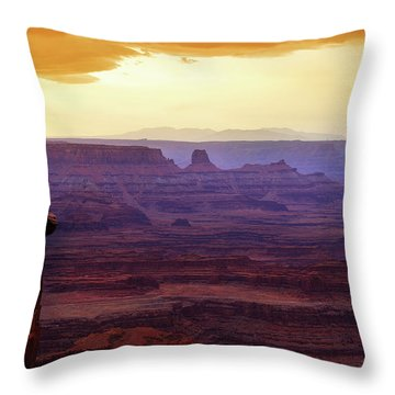 The Gold Light Of Dawn Throw Pillow