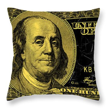 The Gold Standard On Marble Throw Pillow