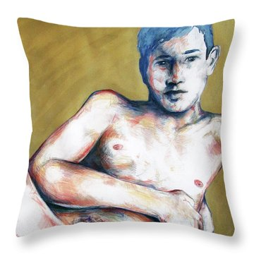 The Golden Boys Stares Back  Throw Pillow