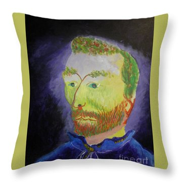 The Golden Coalminer Throw Pillow