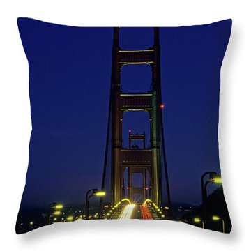The Golden Gate Bridge Twilight Throw Pillow