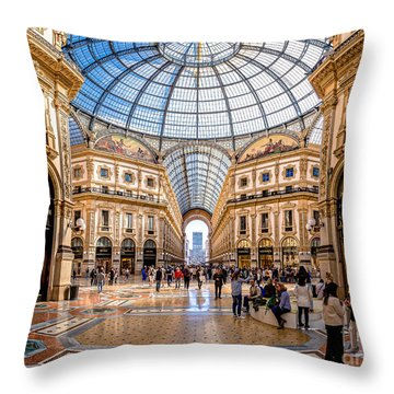 The Golden Hall Throw Pillow