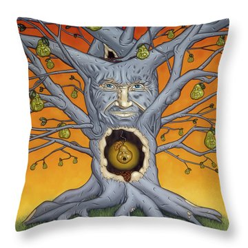 Throw Pillow featuring the painting The Golden Pear by Paxton Mobley