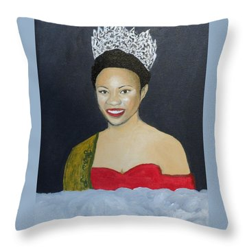 The Golden Queen  Throw Pillow