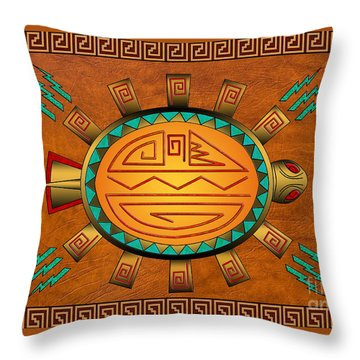 The Golden Spirit Turtle Throw Pillow
