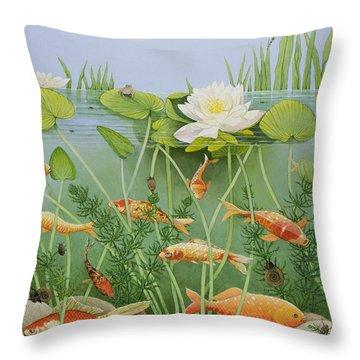 The Golden Touch Throw Pillow