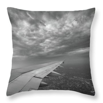 The Golden Wing Bw  Throw Pillow