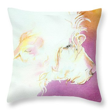 The Golden Years Throw Pillow by Lynn Babineau