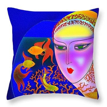 The Goldfish Bowl - Vintage 1920s Throw Pillow
