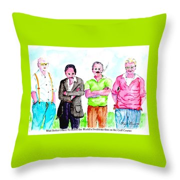 The Golf Course, A Place For Solving Problems Throw Pillow