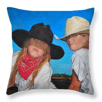 The Good And The Bad Throw Pillow