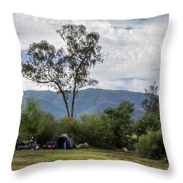 Throw Pillow featuring the photograph The Good Life by Linda Lees