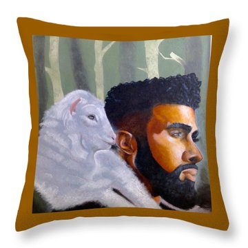 The Good Shepherd  Throw Pillow by Christopher Marion Thomas