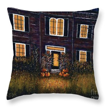 The Good Witch Grey House Throw Pillow