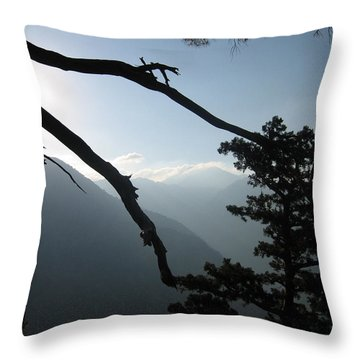 The Gorge Throw Pillow by Oliver Johnston