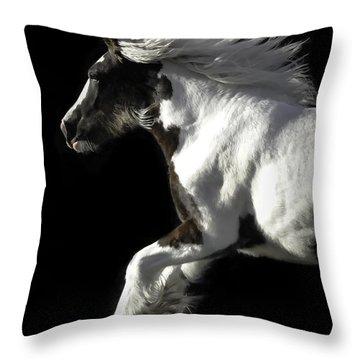 The Gorgeous Filly Throw Pillow