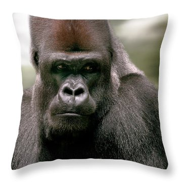 Throw Pillow featuring the photograph The Gorilla by Christine Sponchia