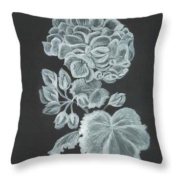 The Gossamer Geranium Throw Pillow by Carol Wisniewski