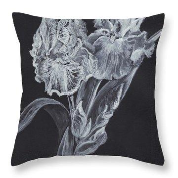 The Gossamer Iris Throw Pillow by Carol Wisniewski