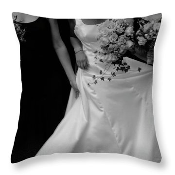Throw Pillow featuring the photograph The Gown by Wayne King