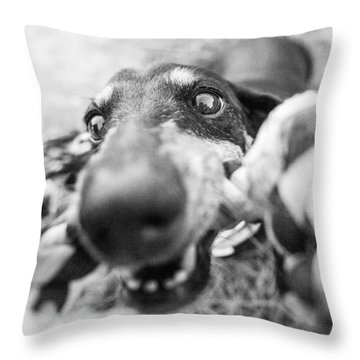 The Grab Throw Pillow
