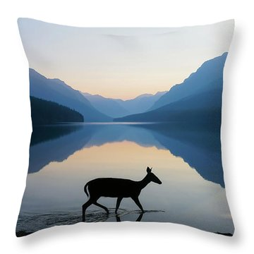 Throw Pillow featuring the photograph The Grace Of Wild Things by Dustin  LeFevre