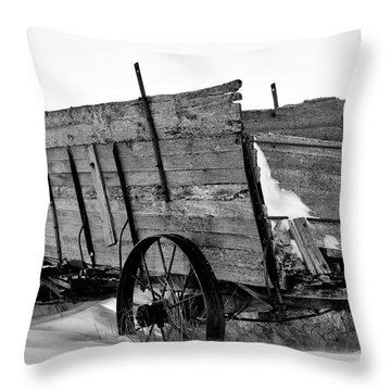 The Grain Wagon Throw Pillow