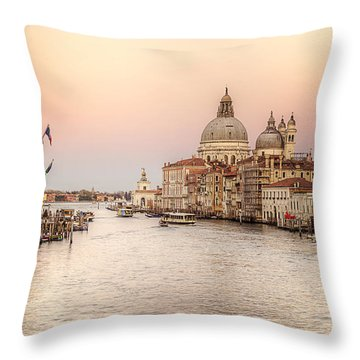 The Grand Canal Throw Pillow