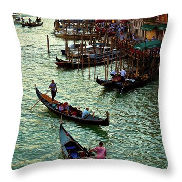 The Grand Canal Venice Throw Pillow by Harry Spitz