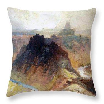 The Grand Canyo Throw Pillow by Thomas Moran