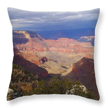 The Grand Canyon Throw Pillow by Marna Edwards Flavell
