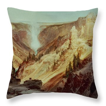 The Grand Canyon Of The Yellowstone Throw Pillow by Thomas Moran