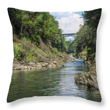 Throw Pillow featuring the photograph The Grand Canyon Of Vermont by John M Bailey