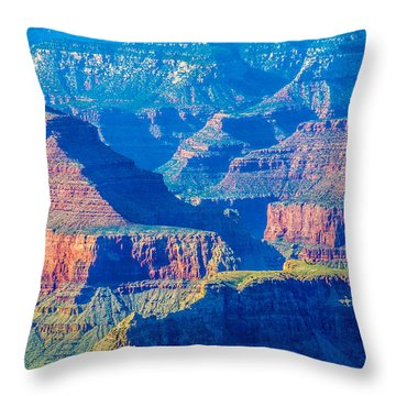 The Grand Canyon Peaks Throw Pillow by Alex Grichenko