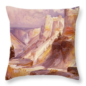 The Grand Canyon, Yellowstone Throw Pillow