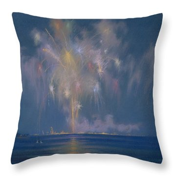 The Grand Finale Throw Pillow by Lendall Pitts